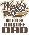 Old English Mastiff Dad (Worlds Best) T-shirts