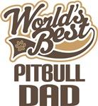 Pitbull Dad (Worlds Best) T-shirts
