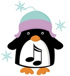 Christmas Music Penguin Tshirt Gifts