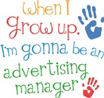 Future Advertising Manager Kids T-shirts