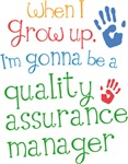 Future Quality Assurance Manager Kids T-shirts
