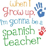 Future Spanish Teacher Kids T-shirts