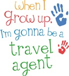 Future Travel Agent Kids T-shirts