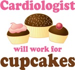 Cardiologist cupcake T-shirts a