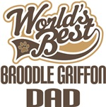 Broodle Griffon Dad (Worlds Best) T-shirts
