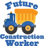 Future Construction Worker Kids T-shirts