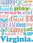 EAT SLEEP LIVE DREAM Virginia T-SHIRTS