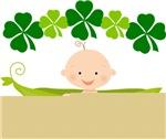 St Patrick's Baby In Pea Pod