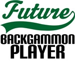 Future Backgammon Player Kids T Shirts