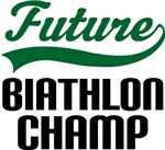 Future Biathlon Champ Kids T Shirts