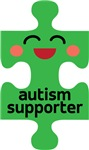 Autism Kawaii Puzzle Piece Shirts and Drinkware.