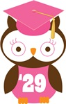 Owl 2029 Class Grad Gifts and Shirts