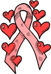 Pink Ribbon with Hearts