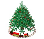 Christmas Tree w/Train