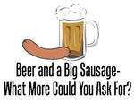 Beer and a Big Sausage