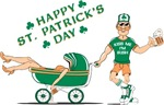 Happy St. Patrick's Day (Baby Carriage)