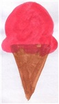 Strawberry Sherbert Cone