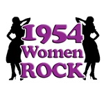 60th Birthday Gifts, 1954 Women Rock!