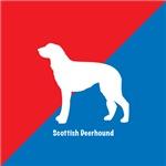 Scottish Deerhound Red White & Blue