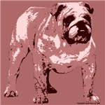 Red Tone Bulldog Design