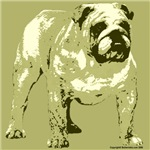 Brown Tone Bulldog Design