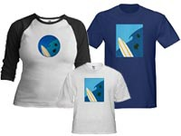 Surfboard & Wave T-shirts