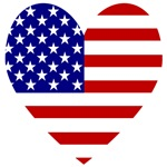 USA Heart Flag Valentine