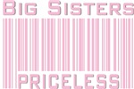 Pink Big Sisters Priceless New Baby T-shirts Gifts