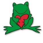 Frog Cartoon Heart Cute Animal T-shirts & Gifts