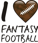 I Love Heart Fantasy Football T-shirts & Gifts