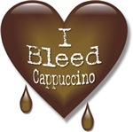I Bleed Cappuccino Heart T-shirts & Gifts