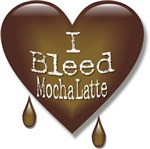 I Bleed Mocha Latte Heart T-shirts & Gifts