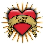 Drummer Chick Tattoo Heart Art T-shirts & Gifts
