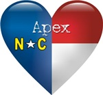 Love Apex North Carolina T-shirts & Gifts