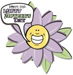Happy Mother's Day Purple Flower T-shirts & Gifts
