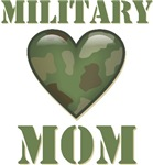 Military Mom Camouflage Camo Heart T-shirts Gifts