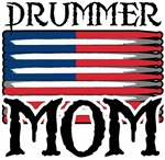 Drummer Mom USA Flag Drum T-shirts & Gifts