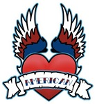 Winged Heart American Tattoo T-shirts & Gifts
