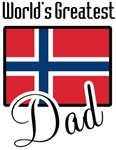 World's Greatest Norwegian Dad T-shirts & Gifts