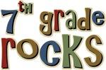 7th Grade Rocks Seventh School T-shirts Gifts