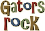Gators Alligators Football Rock T-shirts Gifts