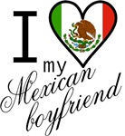 I Love Heart My Mexican Boyfriend T-shirts Gifts
