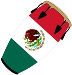 Conga Mexico Flag band t-shirts gifts