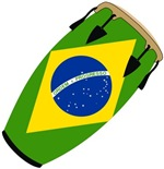 Conga Brazil Flag music t-shirts gifts
