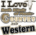 Love Country Western Music t-shirts gifts