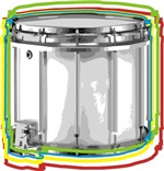 Marching Snare Drum Neon t-shirts gifts