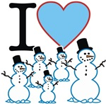 I Love Snowmen t-shirts gifts
