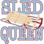 Sled Queen t-shirts gifts