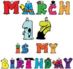 Cartoon Text Birthday March 17th T-shirts Gifts