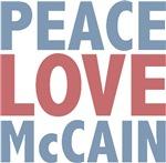 Peace Love John McCain T-shirts Gifts